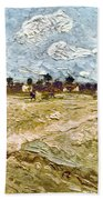 Van Gogh: Fields, 1888 Beach Towel