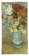 Van Gogh: Flowers, 1887 Beach Sheet