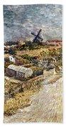 Van Gogh: Gardens, 1887 Beach Towel