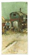 Van Gogh: Gypsies, 1888 Beach Sheet