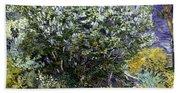 Van Gogh: Lilacs, 19th C Beach Towel