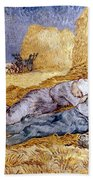 Van Gogh: Noon Nap, 1889-90 Beach Towel