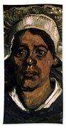 Van Gogh: Peasant, 19th C Beach Sheet