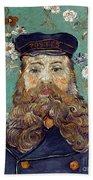 Van Gogh: Postman, 1889 Beach Towel