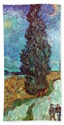Van Gogh: Road, 1890 Beach Towel