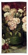 Van Gogh: Roses, 1886 Beach Towel