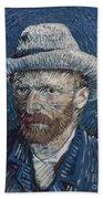 Van Gogh: Self-portrait Beach Sheet