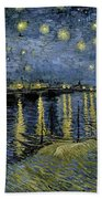 Van Gogh, Starry Night Beach Sheet