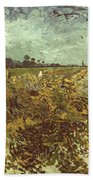 Van Gogh: Vineyard, 1888 Beach Towel