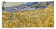 Van Gogh: Wheatfield, 1889 Beach Towel