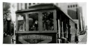 Van Ness And Market Cable Car- By Linda Woods Beach Towel