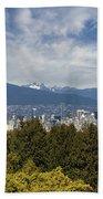 Vancouver Bc Skyline Daytime View Beach Towel