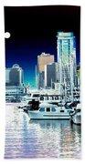 Vancouver Harbor Moonrise  Beach Towel