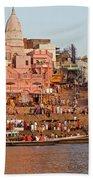 Varanasi From Ganges River Beach Towel
