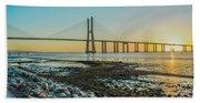 Vasco Da Gama Bridge Beach Towel