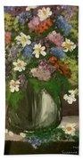 Vase Of Flowers #1 Beach Towel