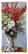 Vase Of Flowers Beach Sheet
