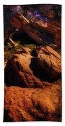 Vasquez Rocks And Stars Beach Towel