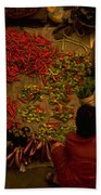 Vegetable Market In Malaysia Beach Towel