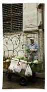 Vegetable Vendor Havana Cuba Beach Towel