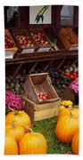 Vegetables In A Market, Grand Rapids Beach Towel