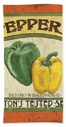 Veggie Seed Pack 2 Beach Towel by Debbie DeWitt