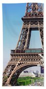 Eiffel Tower And Spring Beach Towel