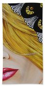 Veiled Woman Beach Towel