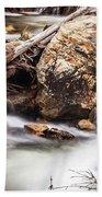 Velvet Falls - Rocky Mountain Stream Beach Towel