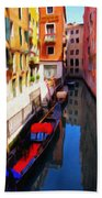 Venetian Canal Beach Towel by Jeff Kolker
