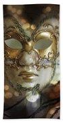 Venetian Golden Mask Beach Towel