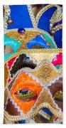 Venetian Masks Beach Towel