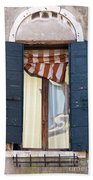 Venetian Windows Shutter Beach Towel