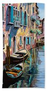 Venezia In Rosa Beach Towel by Guido Borelli