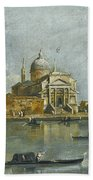 Venice. A View Of The Church Of San Giorgio Maggiore Beach Towel