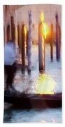 Venice Blue Hour 1 Beach Towel