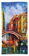 Venice Bridge Beach Towel
