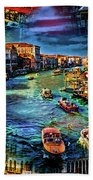 Venice Coming And Going Beach Towel