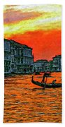 Venice Eventide Impasto Beach Towel