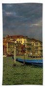 Venice Grand Canal God Sun Rays Beach Towel