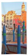Venice Rialto Bridge Beach Towel