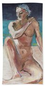 Venus Of The Moon Beach Towel