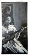 Vermeer Guitar Player Beach Towel