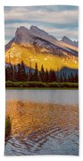 Vermillion Lakes And Mt Rundle II Beach Towel
