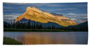 Vermillion Lakes And Mt Rundle Beach Towel