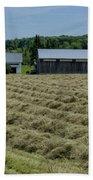 Vermont Farmhouse With Hay Beach Towel