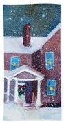 Vermont Studio Center In Winter Beach Towel