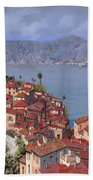 Vernazza-cinque Terre Beach Towel by Guido Borelli