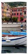 Vernazza Fishing Boats Beach Towel