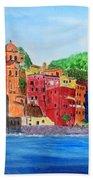 Vernazza Italy Beach Towel